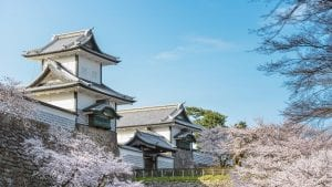 Kanazawa castle in Japan, included in tours offered by Asia Vacation Group