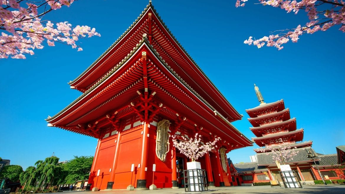 Sensoji Temple is included in Japan tours offered by Asia Vacation Group.