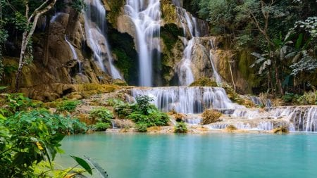 Kuangsi fall is included in Laos tours offered by Asia Vacation Group.