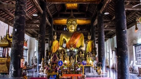 Wat Wisunarat Luang Prabang is included in Laos tours offered by Asia Vacation Group.