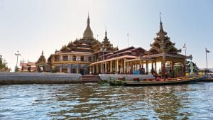 Buddhist temple on Inle Lake, Myanmar, included in tours offered by Asia Vacation Group