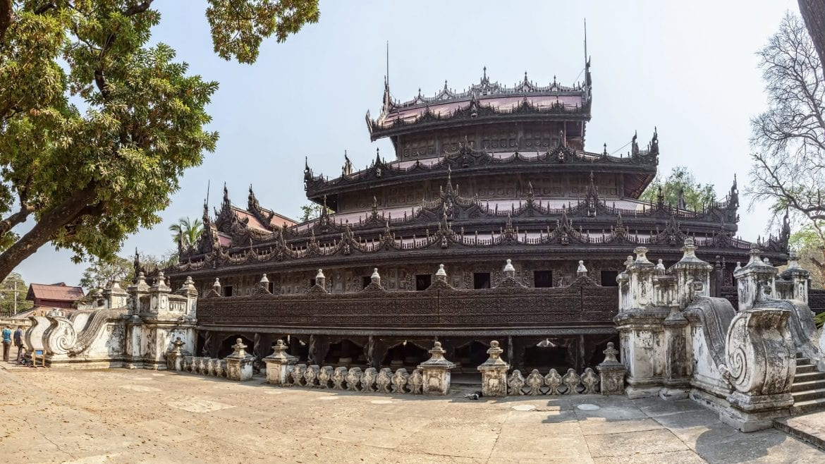 Shwenandaw Monastery is included in Myanmar tours offered by Asia Vacation Group.