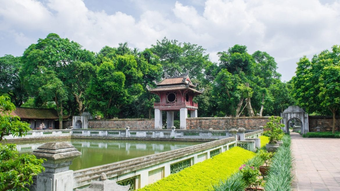 Literature Temple in Hanoi, Vietnam, included in tours offered by Asia Vacation Group