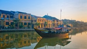 Hoian Thu Bon river, Vietnam, included in tours offered by Asia Vacation Group