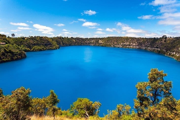 Mount Gambier in South Australia